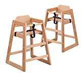Flash Furniture 2 Pk. HERCULES Series Stackable Natural Baby High Chair