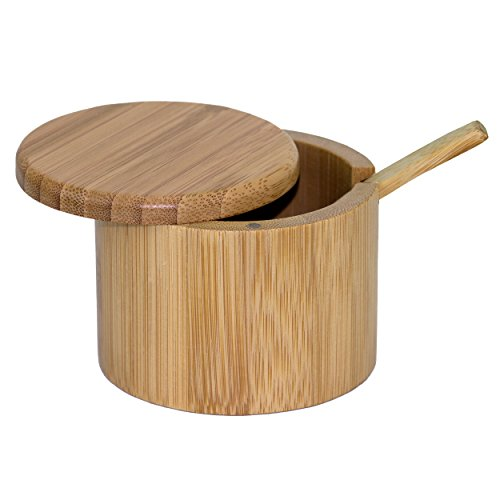 (Totally Bamboo Little Dipper Bamboo Salt Box with Spoon, 6 Ounce)