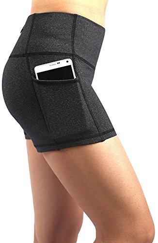 EAST HONG Womens Yoga Shorts Running Shorts Have Pockets