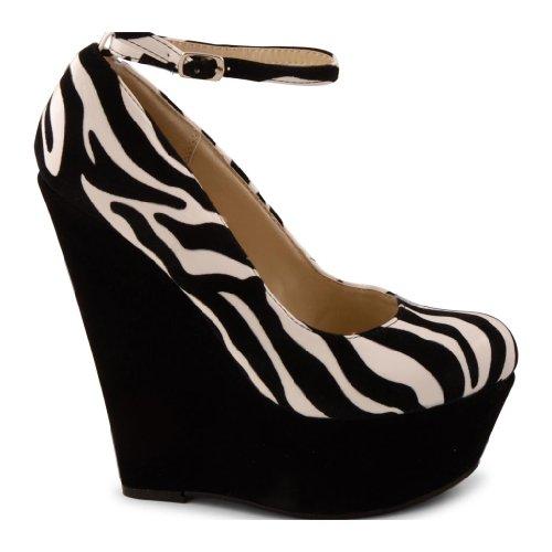 Footwear Sensation - Zapatos de vestir de sintético para mujer negro - Zebra