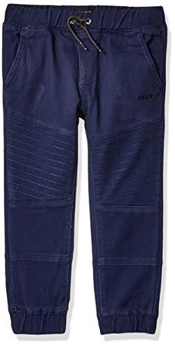 - DKNY Boys' Little Twill Jogger Pant, Peacoat, 6