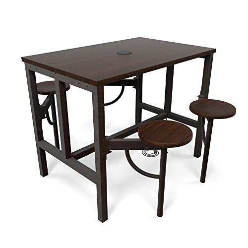 OFM 9004-WLT-WLT Model 9004 Endure Series Standing Height 4 Seat Table, 38'' Height, 31.25'' Width, 47.625'' Length, Walnut by OFM (Image #5)