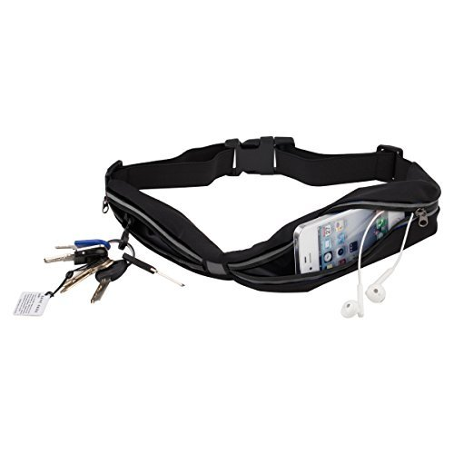 Cool Shop Running Belt Key, Phone, iPhone 6 Plus Holder for Runners Waterproof Waist Pack with Two Pocket