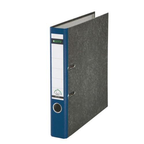 Leitz 10505035 Qualitäts-Ordner 180° (mit Schlitzen, A4, 80 mm, schmal) blau