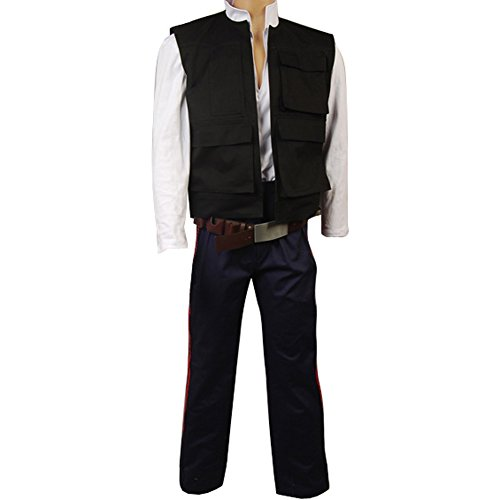 CosplaySky Star Wars Costume ANH A New Hope Han Solo Cosplay (Vest+Shirt+Pants) Medium