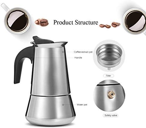 Amazon.com: Cafetera de 9 tazas de acero inoxidable con ...