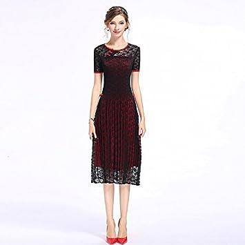 JIALELE Chinoiserie mujer funda una línea vestido - Bloque de Color ...