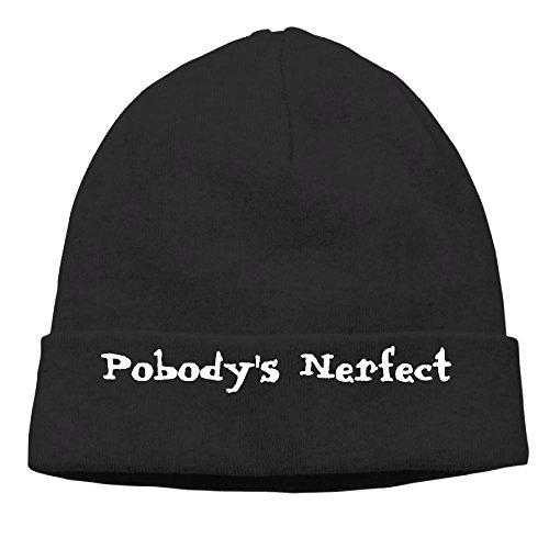 Richard Lyons Momen Nobody's Perfect Funny Fashion Skiing Black Beanies Hats