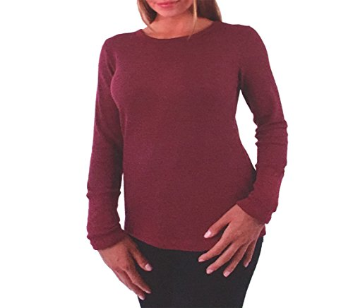 Orvis Womens Waffle Tee Long Sleeve Thermal Top, Medium Cabernet