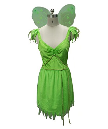 Costume for Cosplay Tinkerbell Style Fairy Peter Pan HC-039 S Size (Tinkerbell And Peter Pan Costumes For Adults)