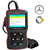 OBDScar OS802 Code Reader for Benz & Smart Check Engine Light EPB ABS SRS OBD2 Scanner with Modes 1-10