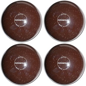 EPCO-Duckpin-Bowling-Ball-Speckled-Houseball-Brown-4-Balls