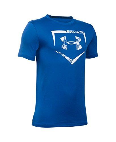 Under Armour Boys' Diamond Logo T-Shirt, Royal/White, Youth X-Large