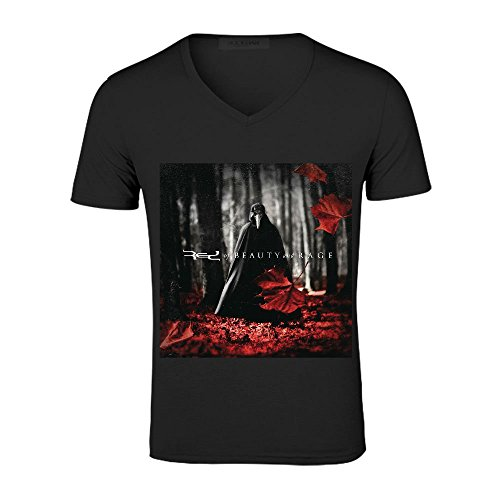 Red Of Beauty And Rage Men V Neck Funnyshirts Black (Of Beauty And Rage Red compare prices)