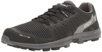 Inov-8 Men's Roclite 290 Trail Running Shoe, Black/Grey, 10 C/D US