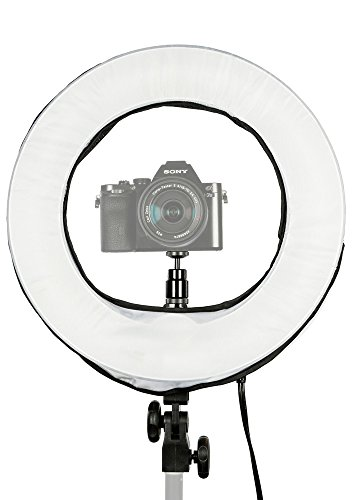 Prismatic 14  Mini Halo Dimmable Ring Light With 6 Light Stand