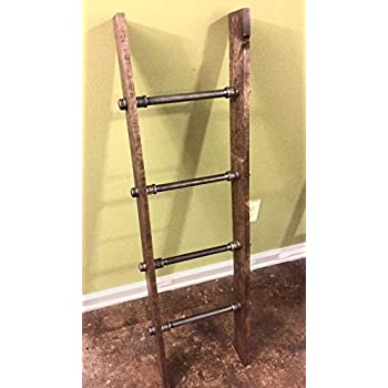 Amazon.com: Pipe and Wood Designs - Escalera de metal de ...
