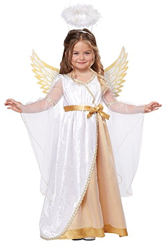 Angel Costume Toddler (California Costumes Sweet Little Angel Costume, One Color, 3-4)