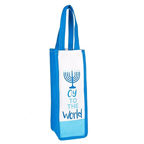 Oy to the World Hanukkah Wine Tote