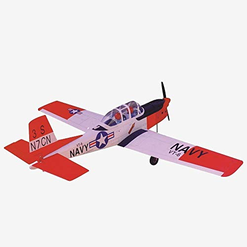 VMAR T34-C Turbo Mentor.40-.53 63 Wingspan Balsa (ARF) Plane Kit - Dual servos, Polycote ESC, Power Module, Two-Piece Composite and 5-7 Hours for Assembly