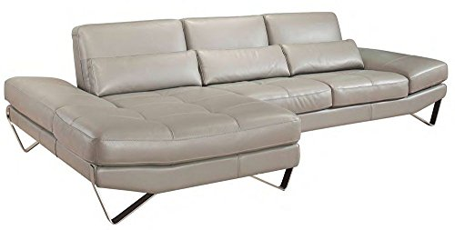 833 Italian Leather Sectional Left Hand Facing