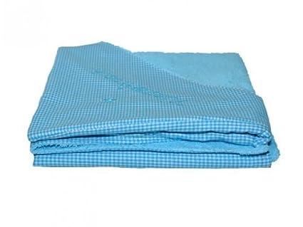 Rizo – Toalla con capucha toalla albornoz cuadros turquesa con nombre bordado Stoff: Karo Türkis