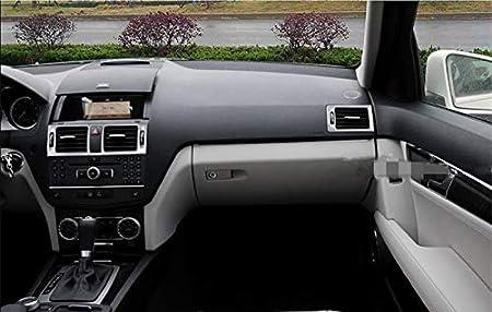 Innen Armaturenbrett Mittelkonsole Lüftungsdüsen Lüftungsgitter Rahmen Zierleisten 5stk Auto