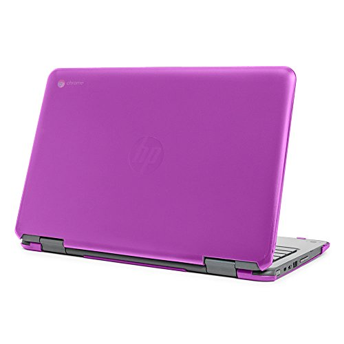 mCover Hard Shell Case for 11.6 HP Chromebook X360 11 G1 EE laptops (NOT Compatible with HP C11 G4EE / G5EE / G6EE) (HP CX360 11 G1EE Purple)