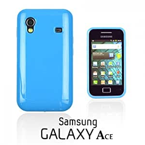 OnlineBestDigital - Colorful Soft Gel Case for Samsung Galaxy Ace - Blue with 3 Screen Protectors and Stylus