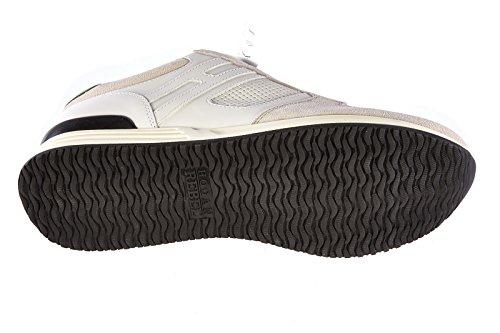 Hogan Rebel chaussures baskets sneakers homme en cuir rebel R218 blanc