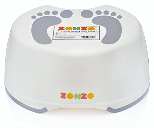 Zohzo Kids Stepping Bathroom Stool | Durable Plastic With Non Slip Surface & Bottom | Lightweight & Easy To Clean Children Step Stool | Ideal For Potty Training, Hand Washing, Teeth Brushing & More