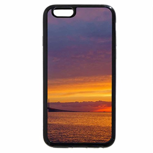 iPhone 6S / iPhone 6 Case (Black) gorgeous sunset sky over a mighty bridge