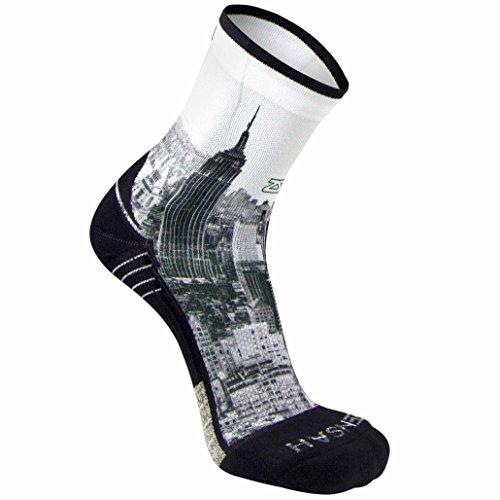 Zensah Limited Edition Running Socks - Anti-Blister Comfortable Mini-Crew Sport Socks, Moisture Wicking (Large, NYC Empire ()