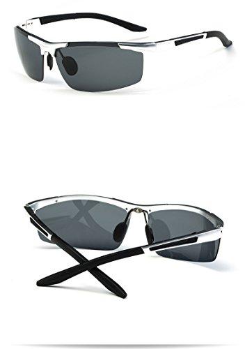 en Color Bicicleta Gafas Deportivas de Silver Aleación Gafas Gafas y de Hombres Baianf de Aluminio Silver magnesio polarizadas Montar Sol gRFTqc
