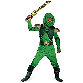 Amazon.com: Forum Novelties Green Ninja Costume, Child Large ...