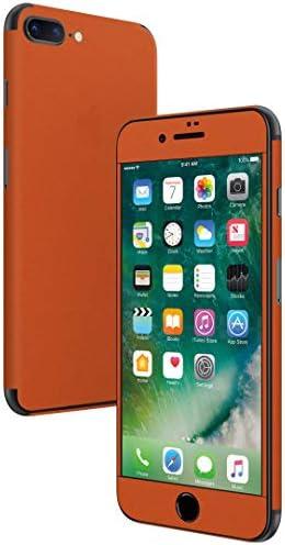 igsticker iPhone SE 2020 iPhone8 iPhone7 専用 スキンシール 全面スキンシール フル 背面 側面 正面 液晶 ステッカー 保護シール 009002 その他 シンプル 無地 オレンジ