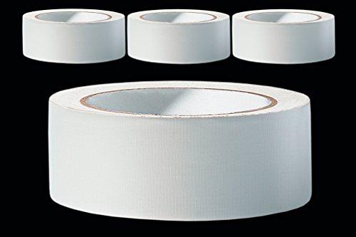 Putzband PROFI - 3 Rollen - 38 mm weiss gerillt 33 m PVC Schutzband Putzerband Bautenschutz Klebeband Putz Abklebeband