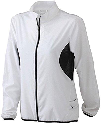 Ladies 'Running Chaqueta Ligera Mujer unidad/Sport Chaqueta * Color: Varios Colores * (Tallas S–XXL) negro/blanco