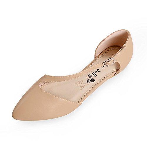 primavera y otoño zapatos/Delgado acentuado bajo el zapato/ gafas con zapatos ligeros/Además de zapatos de tamaño A