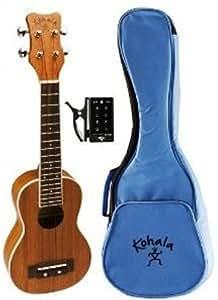 Kohala Soprano Ukulele Bundle Pack - Gig Bag and Tuner Included
