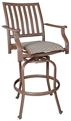 Panama Jack Outdoor PJO-1001-ESP-SB Island Breeze Swivel Barstool, 30-Inch, 1-Piece - Stool Bar Swivel 25 Outdoor