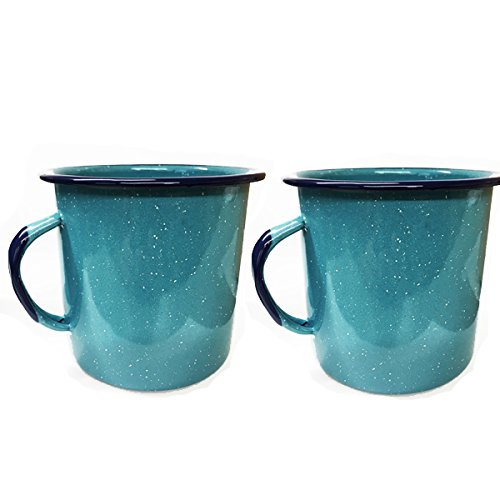 Enamel Cookware Camping Cup Set of 2