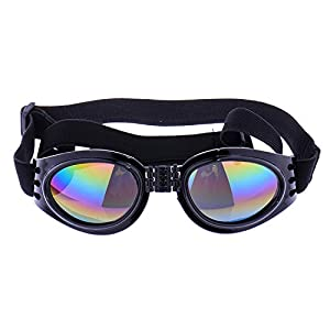 Zaote Beautiful Framed Pet Puppy Dog UV Protection Doggles Goggles Sunglasses Eyewear Black