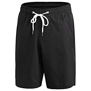 Yuerlian Men's Sports Shorts, Quick Dry Workout Shorts for Men, Classic Fit Summer Short with Pockets