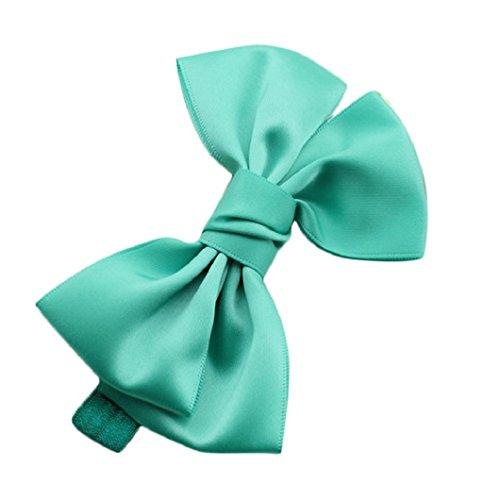 DZT1968(TM)Baby Girl Newest Narrow Turban Headband Head Wrap Hair Band With Big Bowknot (Green) - Narrow Green Band