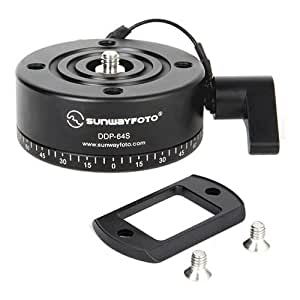 SunwayFoto DDP-64SX Indexing Rotator with Arca Dovetail Mounting for Panoramas, 13.22-17.63lbs Capacity