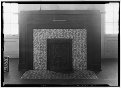 8 x 12 Photo 15. Historic American Buildings Survey Alex Bush, Photographer, January 25, 1935 Fireplace in Parlor, N. E. Room - Cunningham Plantation, Old Memphis Road (Gaines Trace Road 1892 71a by Vintography