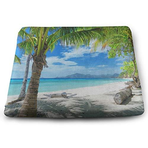 Ladninag Green Palm Tree Sand Beach Sea