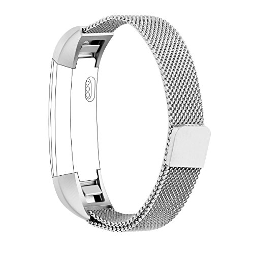 Fitbit Alta HR Band And Alta Band, Vancle Adjustable Fitbit Alta Accessories Replacement bands Metal Wristband Band Strap with Magnetic Closure Clasp for Fitbit Alta HR 2017/ Fitbit Alta 2016