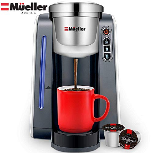 Mueller Ultima Single Serve Pod Compatible Coffee Maker Machine With 4 Brew Sizes for 1.0 and 2.0 Pods. Rapid Brew Technology with Large Removable 48 oz Water Tank (Best Way To Clean Coffee Machine)